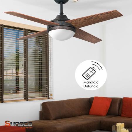 Ventilador eolo fabrilamp ventilador de techo rustico - Ventiladores de techo rusticos ...