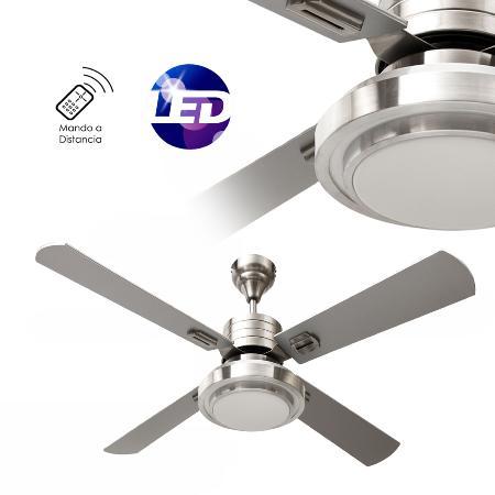 Ventilador troya fabrilamp ventiladores luz led - Luz con mando a distancia ...