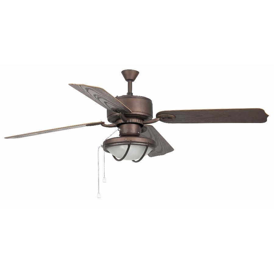Ventilador faro hierro marron ventilador de exterior faro - Ventilador techo rustico ...