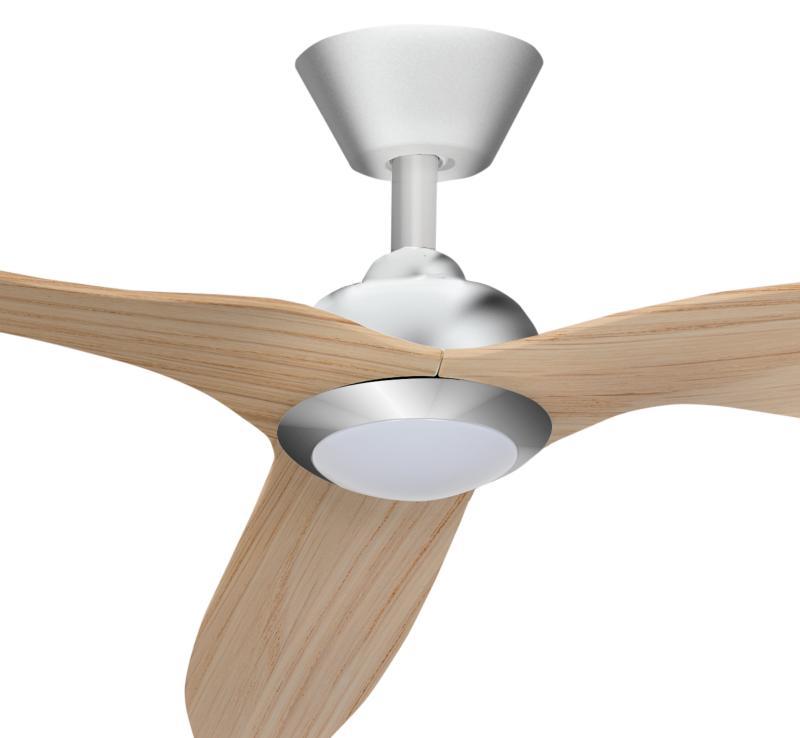 Ventilador delfos fabrilamp ventilador de techo niquel haya - Ventilador bajo consumo ...