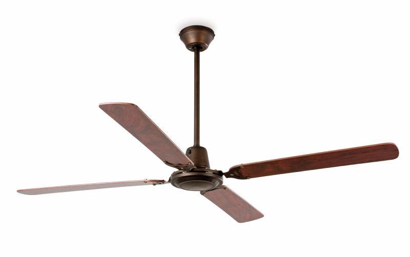 Ventilador faro malvinas marron ventilador de techo - Ventilador de techo vintage ...
