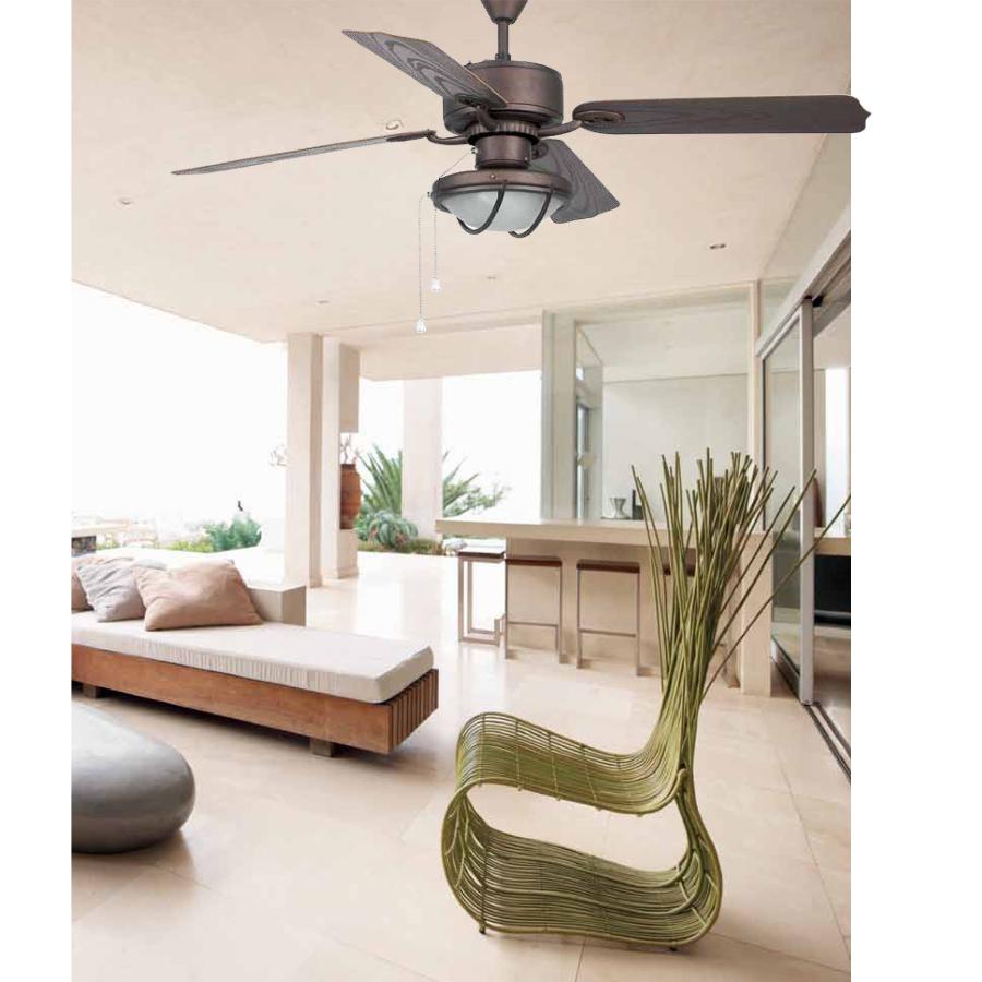 Ventilador faro hierro marron ventilador de exterior faro for Ventiladores de techo alcampo