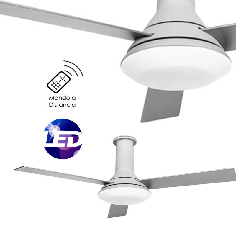 Leds c4 fus ventilador de techo fus luz led con mando - Luz de techo ...