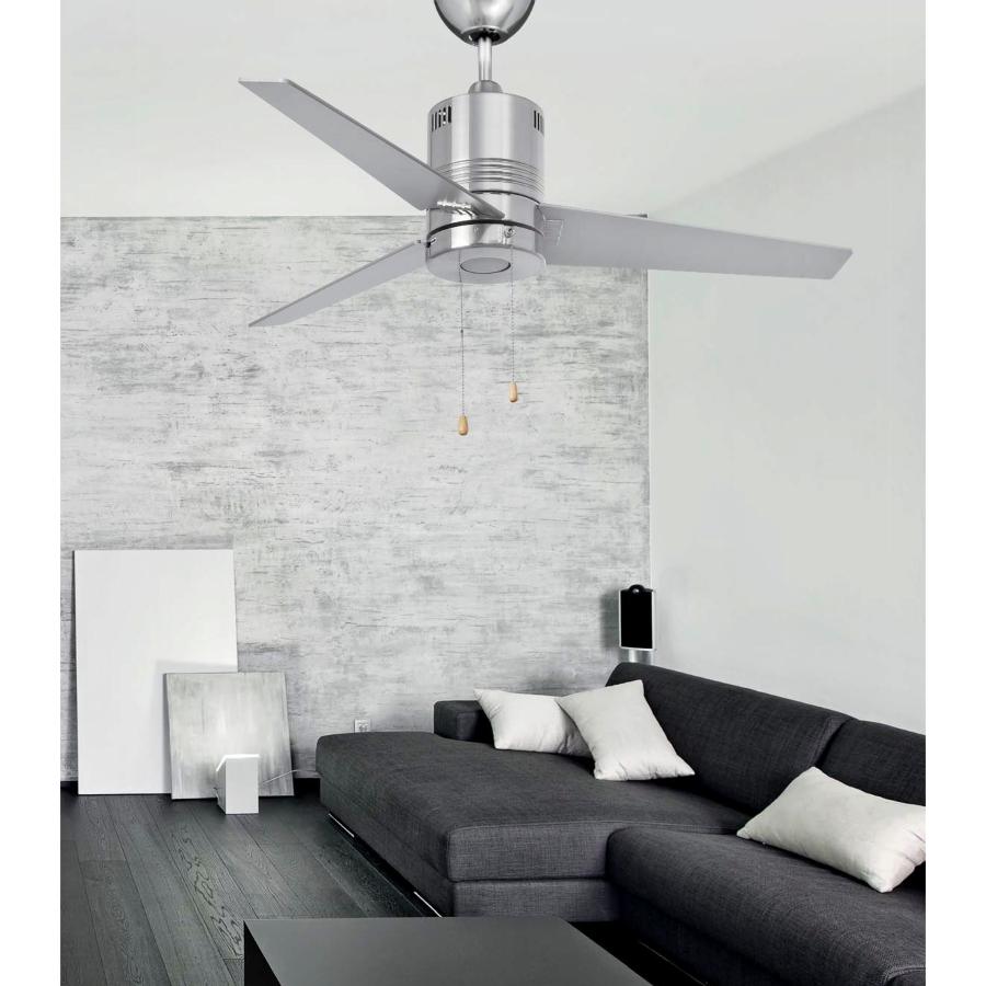 Faro ventilador led chiloe niquel - Ventilador de techo moderno ...