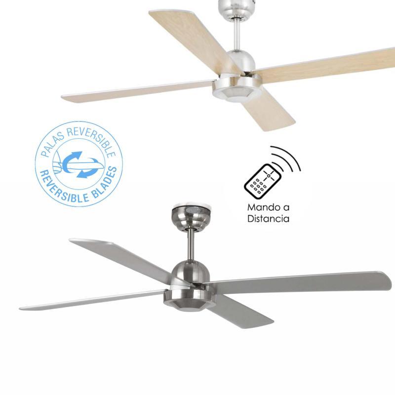 Ventilador faro ibiza niquel ventiladores de techo sin - Ventiladores de techo sin luz ...