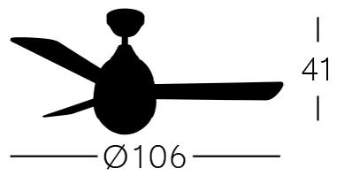 medidas ventilador Lombarda Fabrilamp