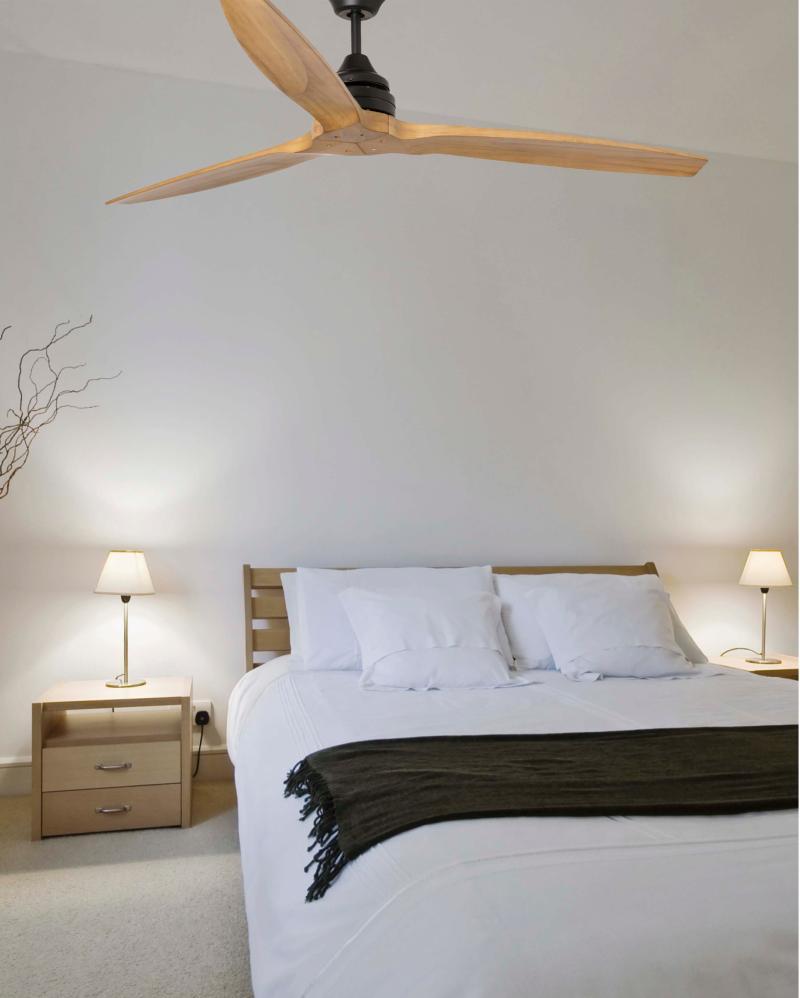 Ventilador alo faro ventiladores aspa madera 152cm 33718 - Ventilador de techo vintage ...